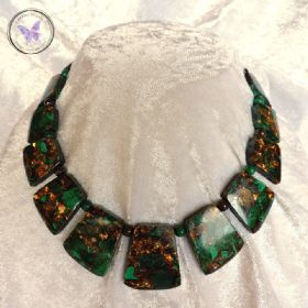 Bronzite & Malachite Healing Necklace